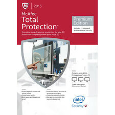 McAfee Total Protection 2015 Premium Edition! 3PCs Brand New Factory Sealed!!!