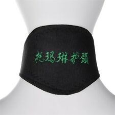 Black Self Heating Magnetic Therapy Tourmaline Pain Relief Neck Wrap Collar JL