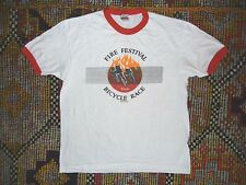 Vtg 80s 1982 COORS FIRE FESTIVAL Bike Race CYCLING T-SHIRT Red/White Size Men XL