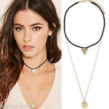 Fashion Women Necklace Double Gold Plated Long Chain Pendant Jewelry accessorie