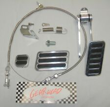 Street Rod Gas Pedal Throttle Cable Brake Pad Kit Chevy