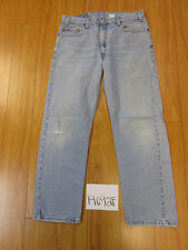 levi 505 feather destroyed grunge jean tag 36x30 Meas 34x29 19092F