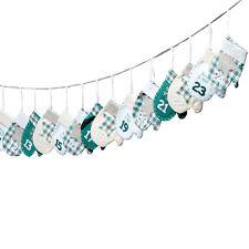 Adventskalender zum Befüllen 'Handschuh' türkis, grau & weiß L260cm Weihnachten
