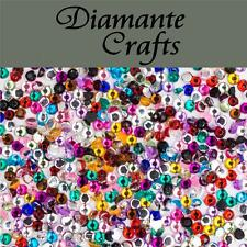 1000 x 1mm Mixed Colours Diamante Loose Flat Back Rhinestone Craft Embellishment