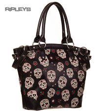 Banned clothing pvc gothique sac à main noir mesmerize sugar skulls sac