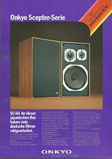 Onkyo SC-60 / Hi-Fi Stereo Prospekt Katalog Brochure Catalogue
