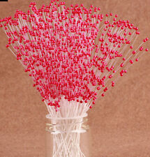 100Pcs Spray Pearl Beads Wire Stems Bridal DIY Wedding Party Bouquet Craft Play