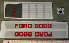 8000 Ford Pedal Tractor DECAL SET Ertl Toy FREE Ship Computer Cut