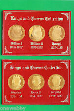 Kings & Queens of England - Medallions - William I to Elizabeth II - SNo19815