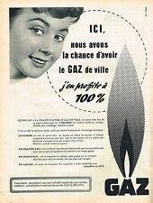 PUBLICITE ADVERTISING 024   1955   GAZ DE VILLE