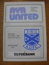 27/04/1985 Ayr United v Clydebank   (No obvious faults)
