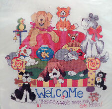 Bucilla Counted Cross Stitch Kit Room For One More Linda Gillum 42855 Dogs Cats