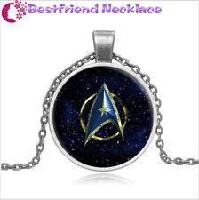 Star Trek Steampunk Moive Glass silver necklace for women men Jewelry