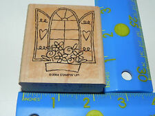 Stampin Up 1 Stamp - Window with Shutters Hearts & Flower Box