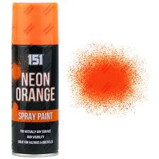 4 x fluorescent fluo orange spray aérosol peinture mat 200ml auto voiture 151 qualité