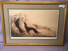 Beautiful LOUIS ICART Framed COURSING II Signed Print, 24''x32''
