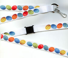 1 x  Easter Egg Fun Breakaway Safety Pre-Printed Lanyard: FREE UK P&P