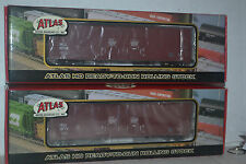 2 Atlas 1777 Santa Fe Evans Double Plug Door Boxcar Ho Scale