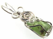 Peridot Wire Wrapped Gemstone Crystal Pendant Design 15