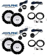 Kit 8 coffers suitable for VW PASSAT Alpine with adapters and supports woofer+