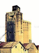VINTAGE Photo Architectural grasso silo FARINA MULINO nhill Australia stampa lv4832