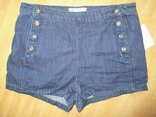 NEW Free People 27 JEAN DENIM Shorts PANTS $78 Retail Bright Blue High Waisted