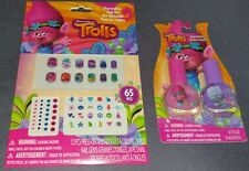 Trolls 65 Piece Nail Art Kit + Poppy Pink & Guy Diamond Purple Polishes! X-MAS