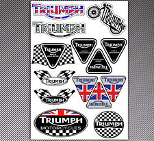 14 ADESIVI STICKERS VINILE AUTO MOTO SCOOTER TRIUMPH SPEED TUNING RACE INGLESE I