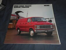 1983 Dodge Ram Tradesman Van Color Brochure Catalog Prospekt