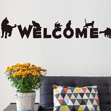 Benvenuto Gatto Adesivi da parete negozio soggiorno decorazione Rifugio veterinaria