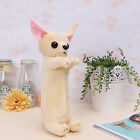 New Cute Dog Animal Plush Fluffy Pencil Case Makeup Bag Pouch Zip Purse 1pc