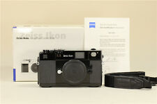MINT- Zeiss Ikon 35mm ZM Rangefinder Camera in Black With Box