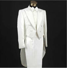 4 Suits Mens Swallowtail Lapel Wedding Long Sleeve Costume Tailcoat Jacket Pant