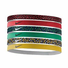 Nike 6 Pk Assorted Red/Yellow/Green/Printed Swoosh Headbands Sz OS **