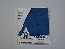 advertising Pubblicità 1962 TAPPETI LEONE DI PERSIA - PARACCHI