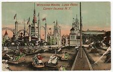 CONEY ISLAND PC Postcard NEW YORK CITY Amusement Park LUNA PARK Witching Waves