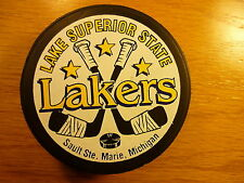 LSSU Lake Superior State University Team Logo Official Hockey Puck Collect Pucks