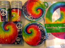 TIE DYE PEACE - Birthday Party Supply Pack Kit Set 16