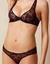 Agent Provocateur GINA BRA in BLACK TULLE & GOLD THREAD - 36B - BNWT