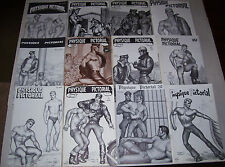 LOT of 12 vintage gay PHYSIQUE PICTORIAL tom of finland covers-hot men-tuff guys