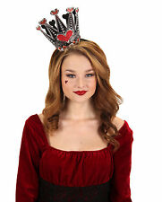 Queen of Hearts Sparkle Mini Crown Alice in Wonderland Costume Adult or Child