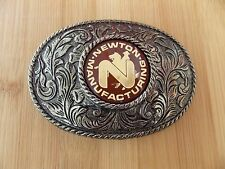 Unique Newton Manufacturing Metal Belt Buckle - Western Cowboy