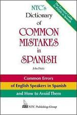 NTC's Dictionary of Common Mistakes in Spanish-ExLibrary