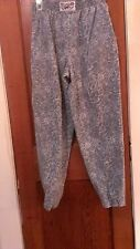 Vintage Retro Women's California Gecko Size M Blue Gray Elastic Waist Pants