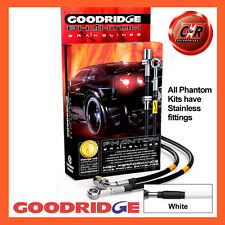 Peugeot 406 (All) inc Coupe 95-04 Goodridge SS White Brake Hoses SPE1150-4C-WT
