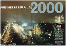 Coupure de presse Clipping 2000 (10 pages) Paris met le feu à l'An 2000