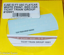 Tichy Train Group #10001 Decal for: EF&E 53 Ft GSC Flatcar White Print(HO Scale)
