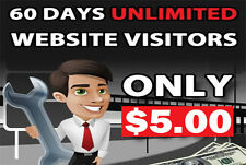 Unlimited Website Traffic for 60 days $5