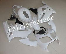 Unpainted ABS Bodywork Fairing Kit for KAWASAKI NINJA ZX 12R 2000 2001 Raw White