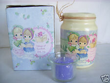 "Precious Moments ""Tidings Of Comfort & Joy"" Candle & Ceramic Candle Holder NIB"